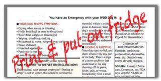 fridge flyer emergencies